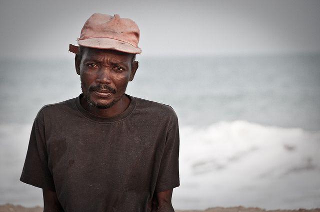 Fisherman in Grand Popo, Benin, Africa