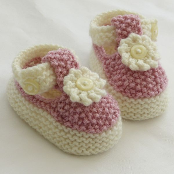 knitted Baby Shoes   Hand Knitted Baby Shoes-Booties - Folksy