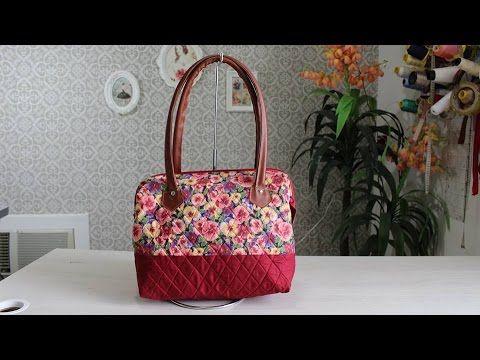 Como fazer uma linda Bolsa Para o dia das mães Bolsa Boca de Lobo para passeio https://www.facebook.com/artedepaninho/