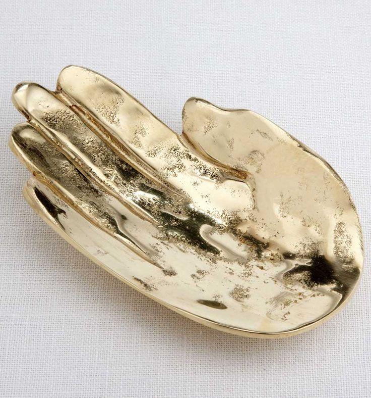 KELLY WEARSTLER | PALM DISH. Spirited burnished bronze catch all
