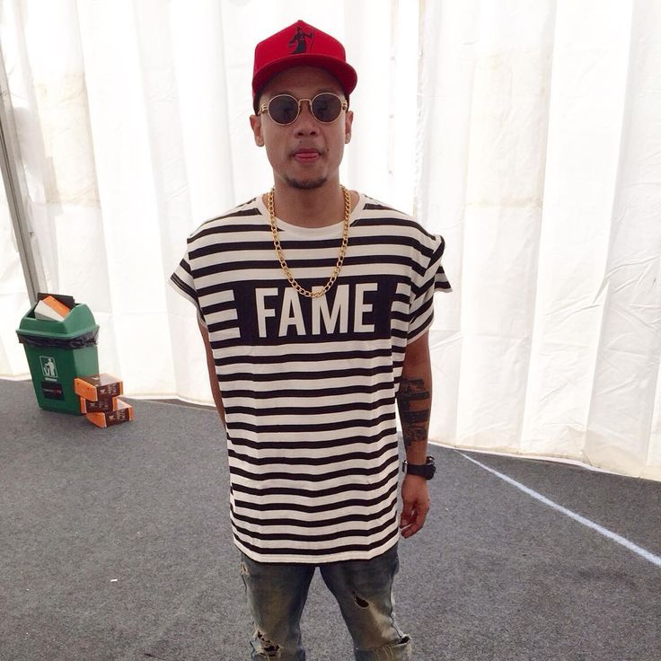 """@kyriz_boogieman wearing our fav tee from our very 1st collection ""World Pissed"" for #wtf15"""