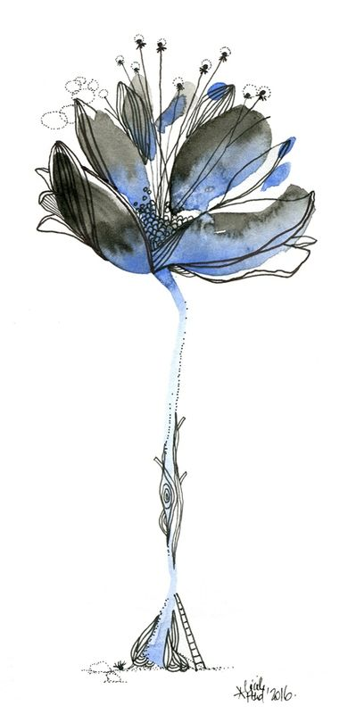 fleur bleue, Cécile Hudrisier