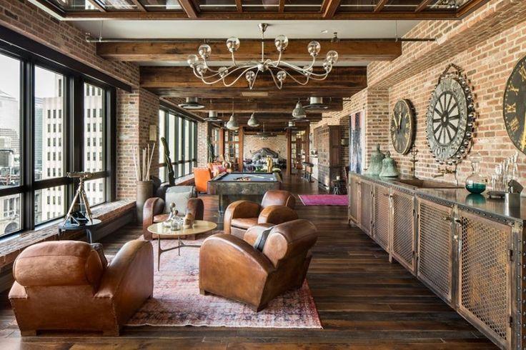 Loft avec briques apparentes à New York