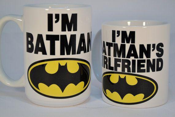 I'm batman and i'm batman's girlfriend,coffee mugs,funny coffee mugs,personalised mugs,custom mugs,personalized mugs,personalized coffee mug