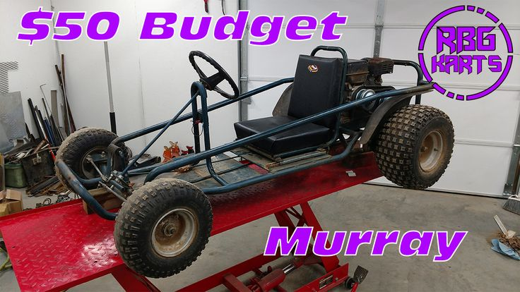 Red Beard's Garage gets this murray go-kart from a junk yard for $50. Builds a new seat & adds go power sports parts to the motor for a total of $180. Budget build! You can watch this & other budget projects on our YouTube channel.