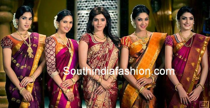 Bridal Silk Saree Blouse Patterns ~ Celebrity Sarees, Designer Sarees, Bridal Sarees, Latest Blouse Designs 2014