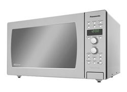 *Panasonic Convection Microwave, Full Stainless Steel Interior& Exterior.  Best microwave ever because it does sooo much more than just nuke food (Broils, Bakes, Brown).  Best of both worlds.  Had a Dimension-4 Genius model from the 1980s and it is still running strong.  But clearly time to buy a new one to go with my upgraded stainless steel kitchen appliances.