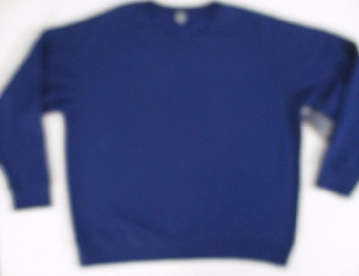 Xersion Men Sweatshirt 2XL Navy Solid  Long Sleeve Cotton Polyester 1700B #Xersion #FleeceTops