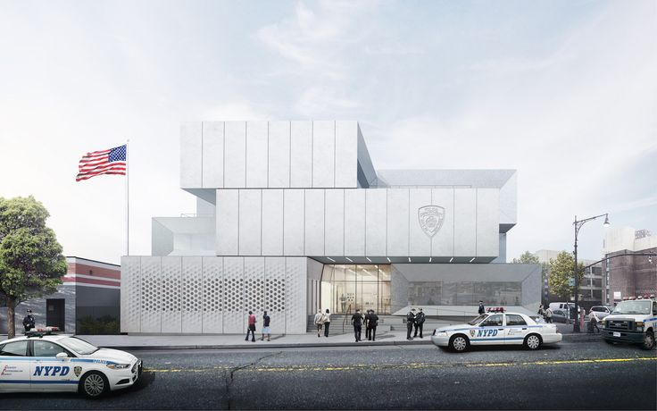 BIG unveils plans for NYPD's first-ever green-roofed police station