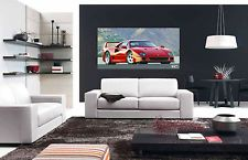FERRARI F40 F-40 EXOTIC SPORTS CAR EXTRA LARGE AUTOMOTIVE POSTER 24x48 in