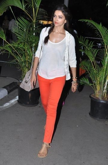 Padukone adds a pop of colour to her airport look