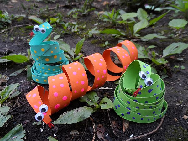 Cardboard Tube Coiled Snakes