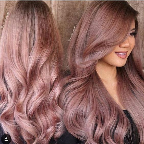 Neutral plumy rose gold. Cab custom mix Joico color ...