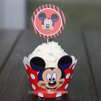 Frete Grátis Mickey bolo do copo rato pega Decoração monograma toppers parágrafo uma festa de Aniversário de Criança, favorece envoltórios fazer queque de ...