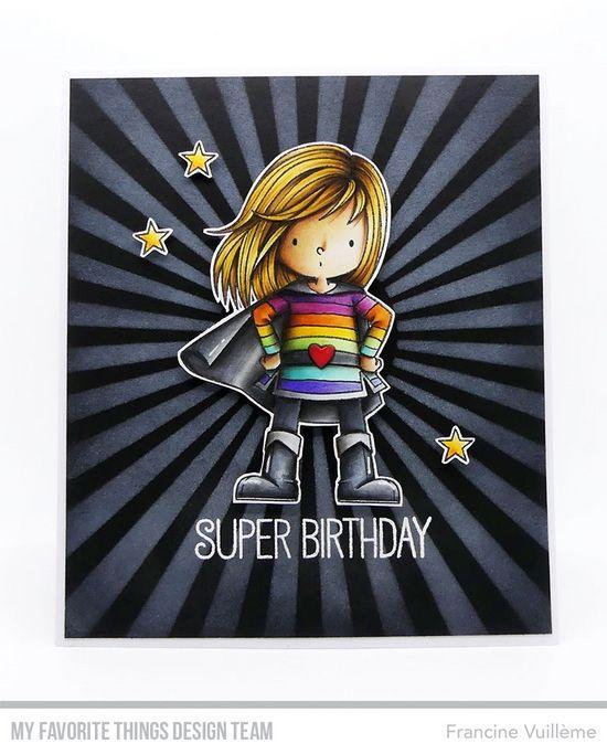 Card by Francine (www.1001cartes.ch) karte, carte, carterie, cardmaking, cardmaker,   crafts, papercrafts, handmade, diy, stamping, #1001cartes,   mftstamps, #mftstamps, die-namics, you're super, birdie brown, #birdiebrown rainbow, #rainbow , super hero