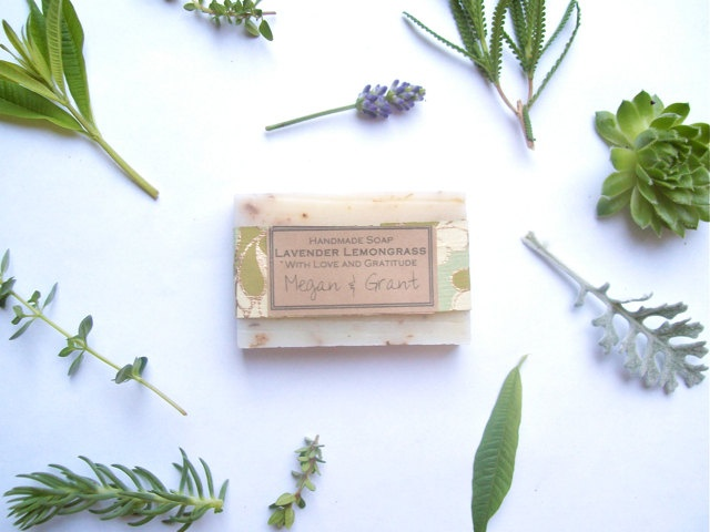 Eco Wedding Favor Handmade Soap / all natural wedding favor / barn wedding favor / outdoor wedding shower gift