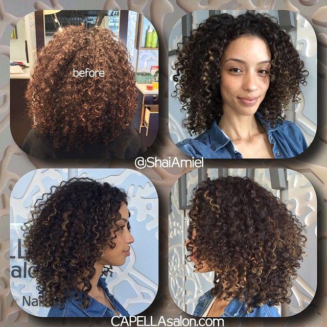 Christina Santini AKA Santini Houdini's new haircut & highlights by Shai Amiel. proper coloring should not damage your curl pattern. www.ShaiAmiel.com
