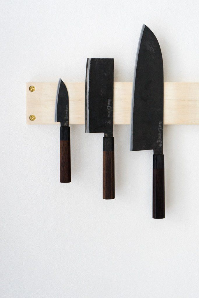 Takeda Hamono Japanese Knife Set - A selection of three hand-forged Japanese culinary knives from Takeda Hamono, third generation master blacksmiths. - at QUITOKEETO.com