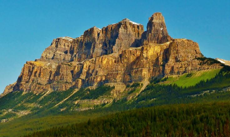 Earth Mountain  Alberta Canada Forest Nature Cliff Wallpaper