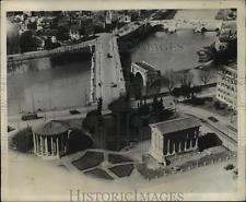 1932 Press Photo Aerisl View of Rome Italy Tiger River Ruins of Ponte Rotto