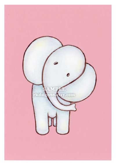 Elephant painting  nursery art jungle animals baby by rkdsign88.etsy.com