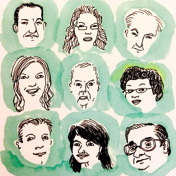 Portraits by Marie Åhfeldt, Mås Illustra. www.masillustra.se #illustration #drawing #masillustra #portrait #people