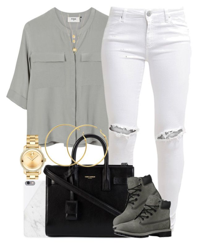 """Neutral Colors. "" by livelifefreelyy ❤ liked on Polyvore featuring PYRUS, FiveUnits, Movado, Native Union, Yves Saint Laurent, Timberland, Joolz by Martha Calvo, Jennifer Zeuner and Melissa Odabash"