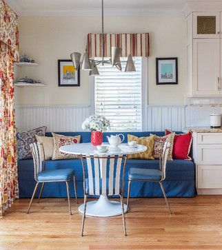 Breakfast nook. Yes or no? - Houzz~~~~~~~~~~~~~cool idea...i COULD do something like this....