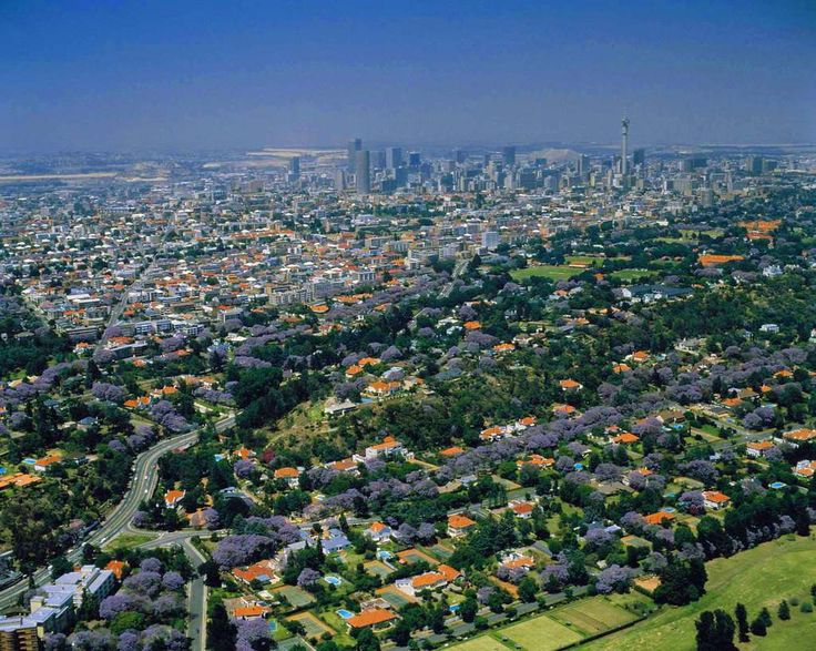 Johannesburg, green too city.