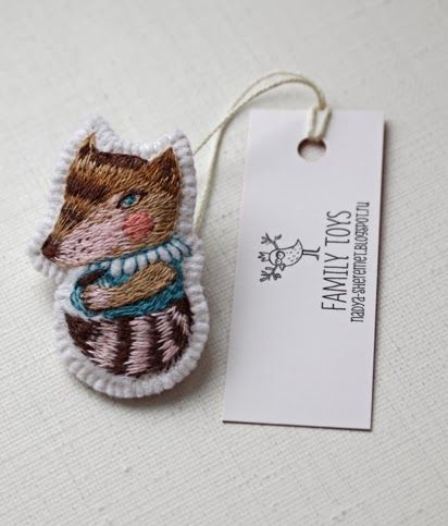 "Nadya Sheremet: Hand embroidery brooches ""My forest friends"""