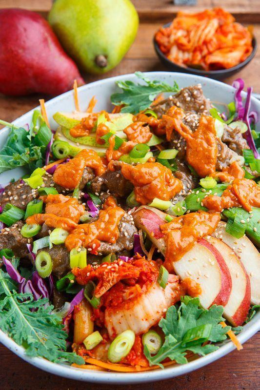 Korean Bulgogi and Pear Kale Salad #koreanstyles   Bulgogi ...