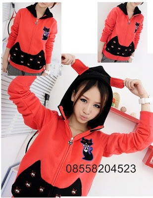 Red Cat Jacket - IDR 140.000 ~ http://www.outfitorganizer.com/2012/11/red-cat-jacket-idr-140000.html
