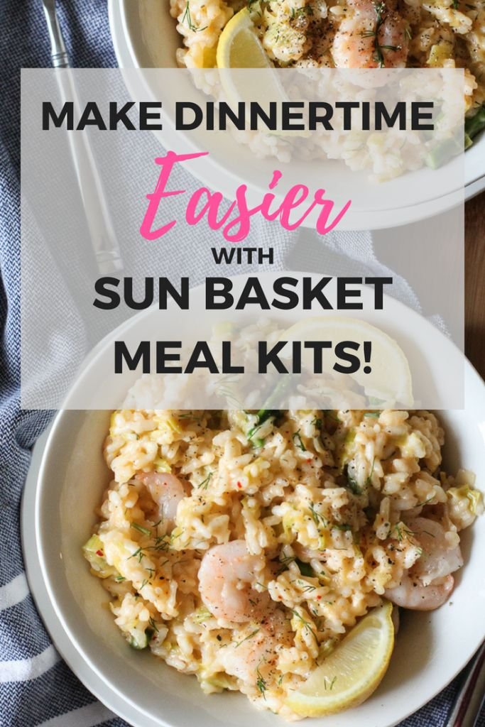 Make dinntertime easier with a meal kit delivery plan. Sun Basket takes care of meal planning, grocery shopping, and meal prepping so you can enjoy cooking dinner again!