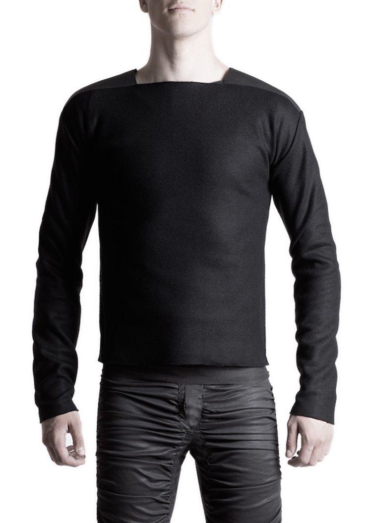 Men's sweater applicated #PANTHEIST #CORVUScolletion #menswear pantheist.co