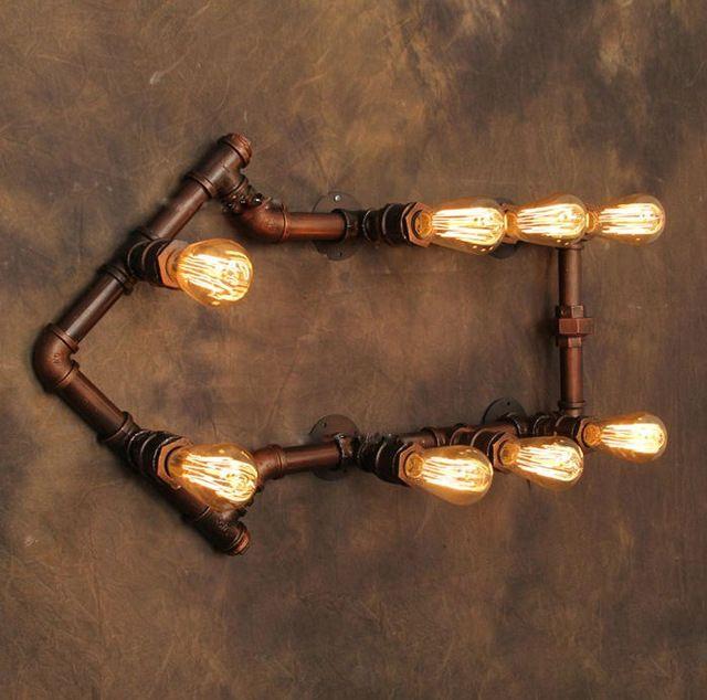 Lâmpada de parede Vintage seta forma de água luminária Industrial Retro lâmpada Edison lâmpada de Bar restaurante iluminação