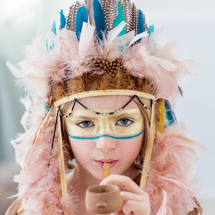 disfraces infantiles diy para indios salvajes inspiraci n marie claire kinder schminken. Black Bedroom Furniture Sets. Home Design Ideas
