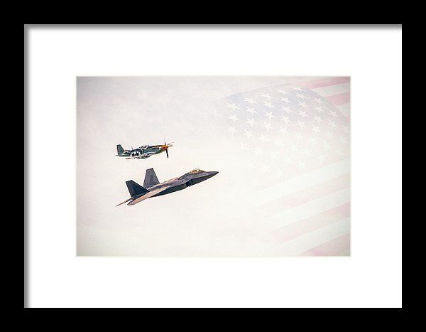 Us Air Force Heritage Flight Framed Print by Mc. All framed prints are professionally printed, framed, assembled, and shipped within 3 - 4 business days and delivered ready-to-hang on your wall. Choose from multiple print sizes and hundreds of frame and mat options.