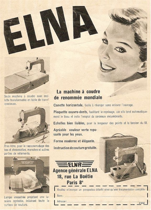 Connu 59 best My Vintage Elna Sewing Machines obsession images on  SO67