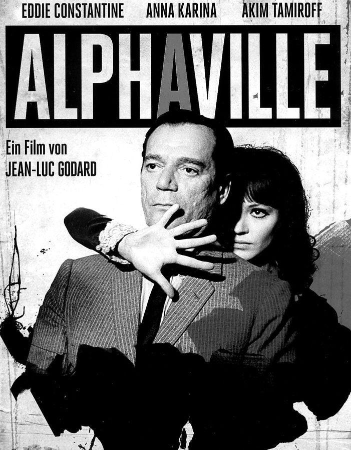 alphaville 1965 jeanluc godard posters pinterest