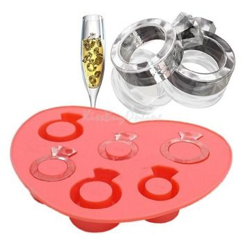 Love Ring Ice Ice Cube Tray diamant style Gel Mold Ice Ice Maker Mould PPSR