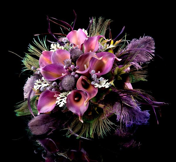 Goth Glory Purple Calla Lily Bouquet