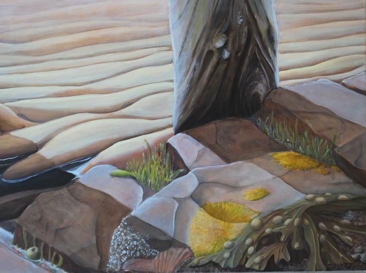 """Beach impression"" (detail). Original oilpainting 60x120 cm."
