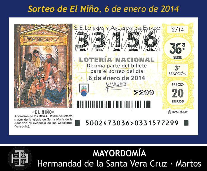 06.01.2014 Lotería Nacional - Sorteo de El Niño. Hermandad de la Santa Vera Cruz. Martos [Spain].