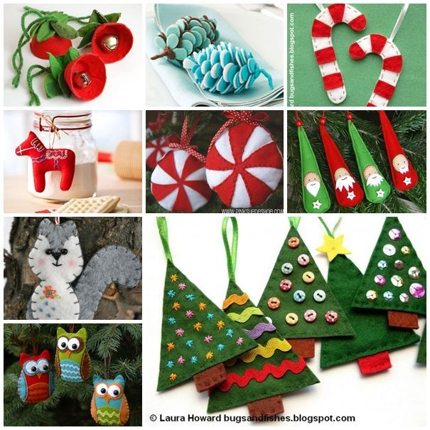 Felt Christmas ornaments could be easily crafted by you and your kids to make your Holiday tree more cool and unique.  20 Felt Ornaments For Christmas --> http://wonderfuldiy.com/20-wonderful-diy-felt-ornaments-for-christmas/