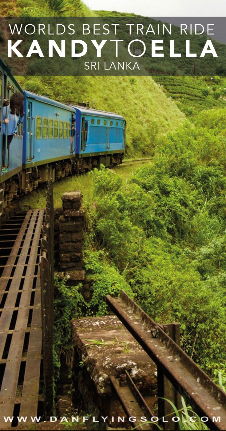 The most beautiful train journey in Sri Lanka - The #Kandy to Ella train