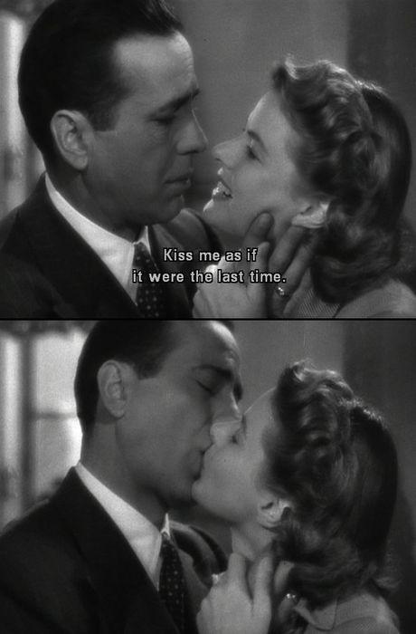 "Humphrey Bogart e Ingrid Bergman em ""Casablanca"" (1942), filme de Michael Curtiz. Veja também: http://semioticas1.blogspot.com.br/2011/11/cahiers-du-cinema.html"