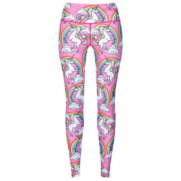 Tikiboo Rainbow & Unicorns Leggings #Activewear #Gymwear #FitnessLeggings #Leggings #Tikiboo #RainbowPrint #Running #Yoga