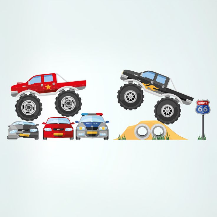 Monster Trucks – Wall Stickers