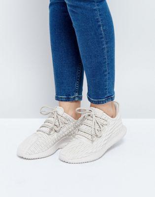 Бежевые кожаные кроссовки adidas Originals