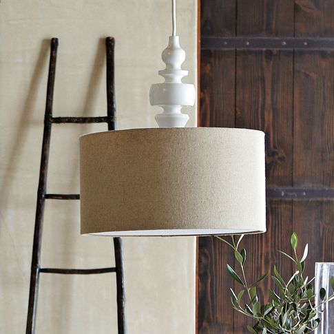 pendant lamp with linen shade